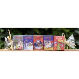 La Savonnerie de Nyons - Set 5 gastenzeepjes kerst kruidkoek & cinnemon orange.