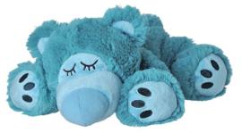 01058 Warmies warmteknuffel Sleepy Bear Turquoise (magnetronknuffel)
