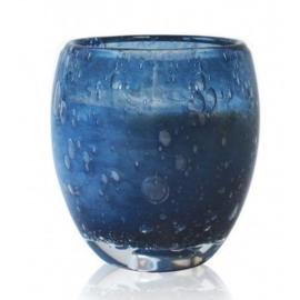 Les Lumières du Temps - Middelgrote geurkaars Perle in Blauw glas