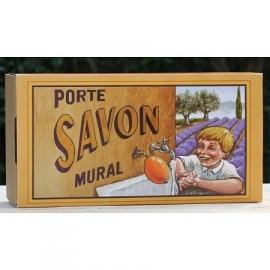 La Savonnerie de Nyons - Zeepbol in cadeaudoos nostalgisch geel (inclusief houder)