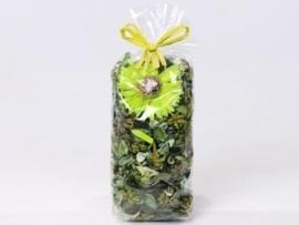 Gemengde potpourri groen 100 gram geparfumeerd