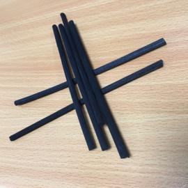 Zwarte Losse stokjes dik 4 mm 25 cm lang (6 stuks)