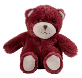 15047 Warmies warmteknuffel Mini Teddybeer bordeaux rood (magnetronknuffel)