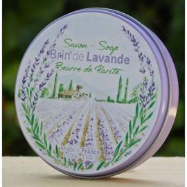 La Savonnerie de Nyons - Zeep in rond blikje lavendel 100 gram.