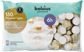 Bolsius Professional  - Horeca  Waxinelichten 6 uur 150 stuks.