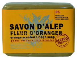 Aleppo Soap Co. - Aleppo zeep sinaasapeelbloesem (fleur d'oranger)100 gram