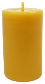 Candlewoods bijenwas kaars stomp 8 geel