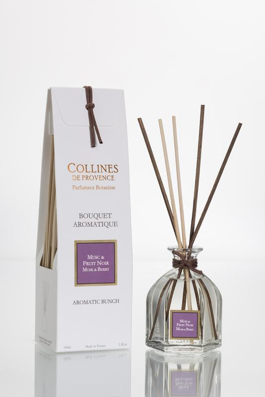 Collines de Provence - Geurstokjes Musk & Berry 100 ml.