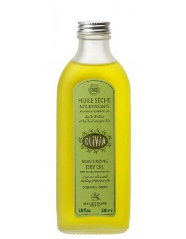 Marius Fabre - Olivia - Moisturizing dry oil (biologische massage olie)  230 ml.