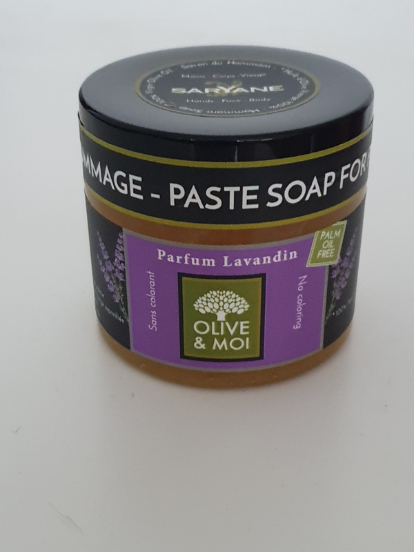Saryane - Hammam Zeep met Lavandin (lavendel) 200 gram.