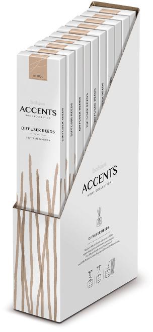 Bolsius Accents Reed Diffuser Sticks 16 stuks (2 sets van 8 stuks)