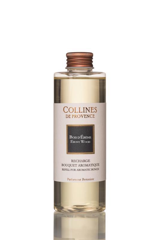 Collines de Provence navulling  geurstokjes Ebbenhout 200 ml.