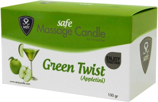 Safe - Massagekaars Green Twist (Appletini)