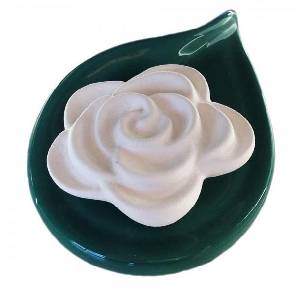 5199 Volatile aromasteen Roos met onderlegger groen
