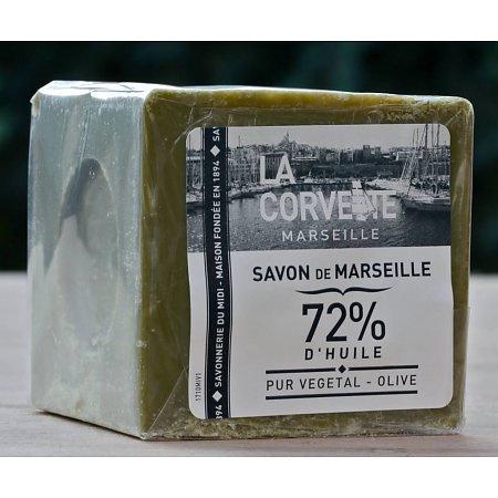 La Corvette - Blok Biologische Marseillezeep olijven in cellofaan 200 gram.