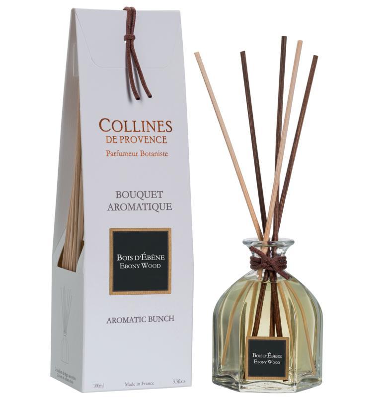 Collines de Provence - Geurstokjes Ebbenhout 100 ml.