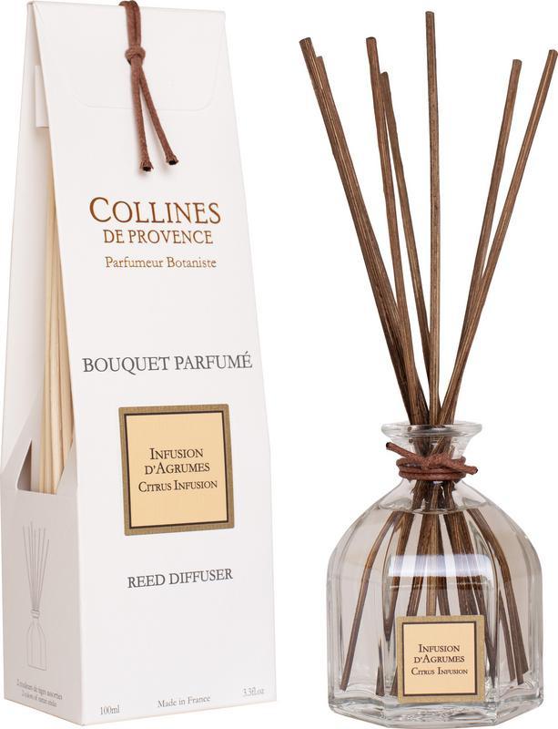 Collines de Provence - Geurstokjes Citrusvruchten infusie 100 ml.