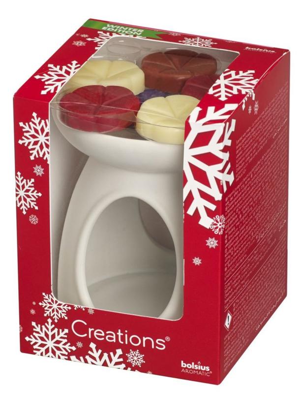 Bolsius Creations Cadeau Set X-mas (brander + 6 chips)
