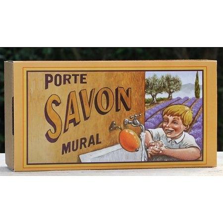 La Savonnerie de Nyons - Zeepbol in cadeaudoos Lavendel (inclusief houder)