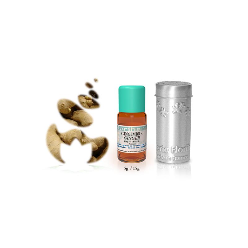 Gember olie - Etherische olie Zingiber Officinalis, bio. Florihana 5  of 15 gram