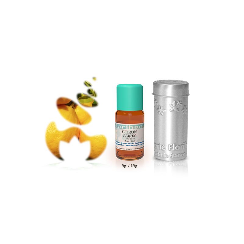 Citroenolie - Etherische olie Citrus Limon, bio. Florihana 5 of 15 gram
