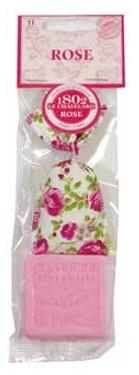 Geurzakje Rose mini & vierkant marseille zeepje mini
