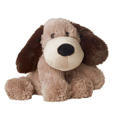 01100 Warmies warmteknuffel Hond Gary donkerbruin (magnetronknuffel)