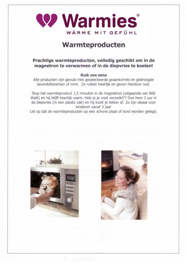 Warmies-magnetron knuffels-warmtedieren