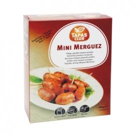 TAPAS CLUB MINI MERGUEZ WORSTJES RUND - 6 x ca. 60st