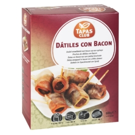 TAPAS CLUB DÁTILES CON BACON - 6 x approx. 48p