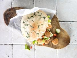 Pita pollo rebozado