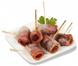 TAPAS CLUB DÁTILES CON BACON - 6 x env. 48p