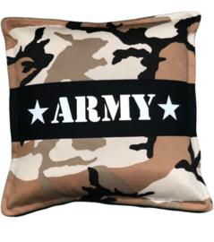 Set: lampenkap & kussen camel camouflage army
