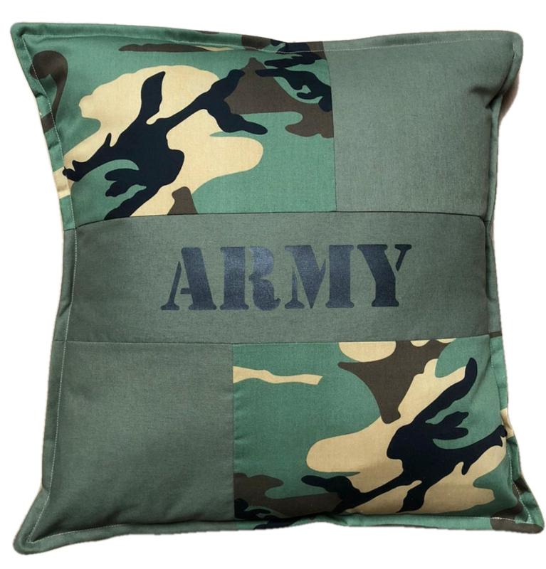 Kussen ARMY patchwork camouflage (45-45cm)