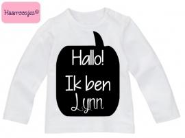Babyshirt, naamshirtje meisje