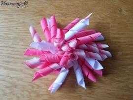 Krulliesss, roze, roze gestreept en wit.