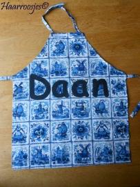 """Kinderschortje """"Daan"""", gewonnen bij de verloting op Facebook."""