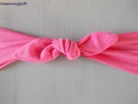 Knoophaarband, fuchsia roze.