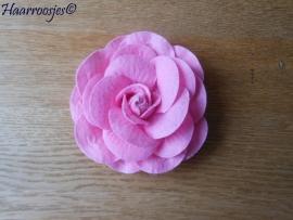 Haarbloem, vilten roos groot (6,5 cm)