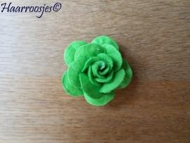 Haarbloem, vilten roos (4 cm)