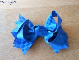 Grote strik, kobalt blauw.