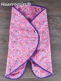 Wrapper, roze met bosdieren.