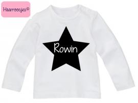 Babyshirt, naamshirtje ster, jongen.