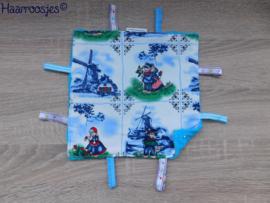 Labeldoekje, delftsblauw (kleur) en blauw badstof en 8 labeltjes - 2.