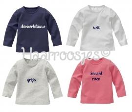 Babyshirt, lange mouw, eigen ontwerp.