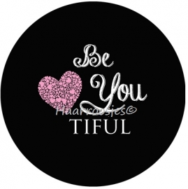 """Be You tiful"" zwart"