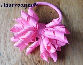 Krulliesss op elastiek, roze.