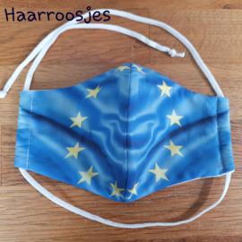 Mondkapje, vlag EU. (L)