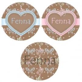 """Flatback met naam """"Fenna""""."""
