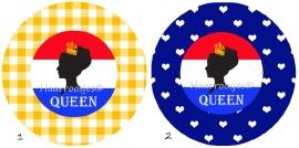 Koningsdag queen (silhouet)